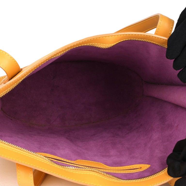 2000 Louis Vuitton Yellow Epi Leather Vintage Saint Jacques PM For Sale 7