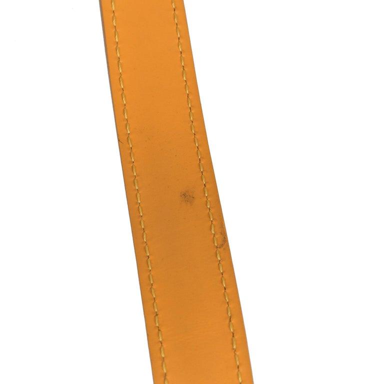 2000 Louis Vuitton Yellow Epi Leather Vintage Saint Jacques PM For Sale 8