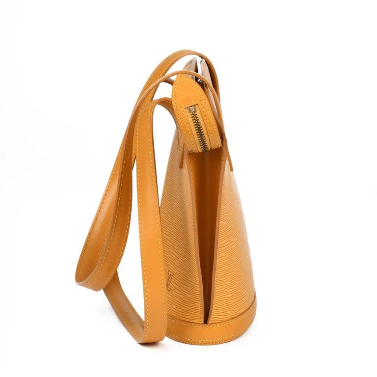 Women's 2000 Louis Vuitton Yellow Epi Leather Vintage Saint Jacques PM For Sale