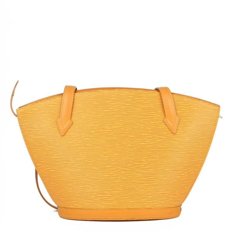2000 Louis Vuitton Yellow Epi Leather Vintage Saint Jacques PM For Sale 1