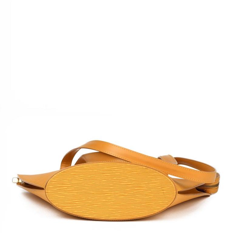 2000 Louis Vuitton Yellow Epi Leather Vintage Saint Jacques PM For Sale 2