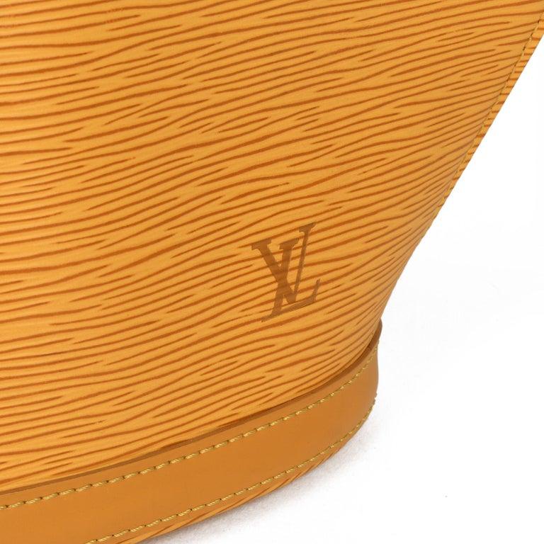 2000 Louis Vuitton Yellow Epi Leather Vintage Saint Jacques PM For Sale 3