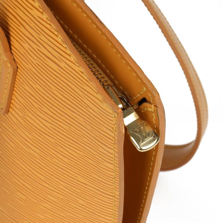 2000 Louis Vuitton Yellow Epi Leather Vintage Saint Jacques PM For Sale 4