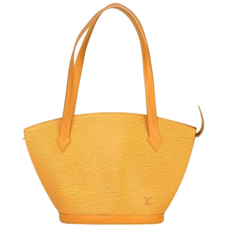 2000 Louis Vuitton Yellow Epi Leather Vintage Saint Jacques PM For Sale
