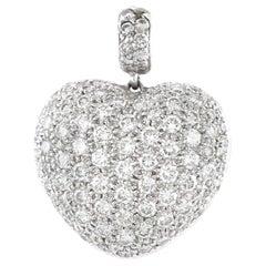 2000s 18 Karat Diamonds Heart Pendant