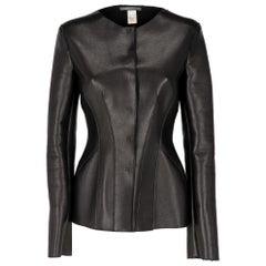 2000s Alberta Ferretti Black Leather Jacket