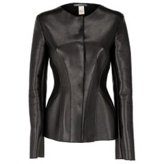 2000s Alberta Ferretti Black Leather Jacket