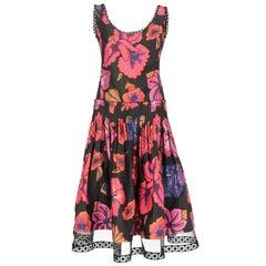 2000s Alberta Ferretti Printed Dress