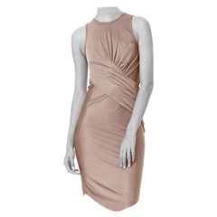 2000'S Alexander Wang Silk Jersey Draped  Dress