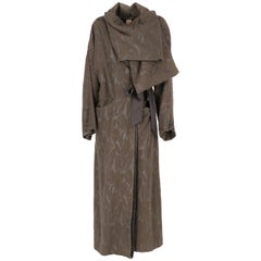 2000s Antonio Marras Brown Jacquard Vintage Coat