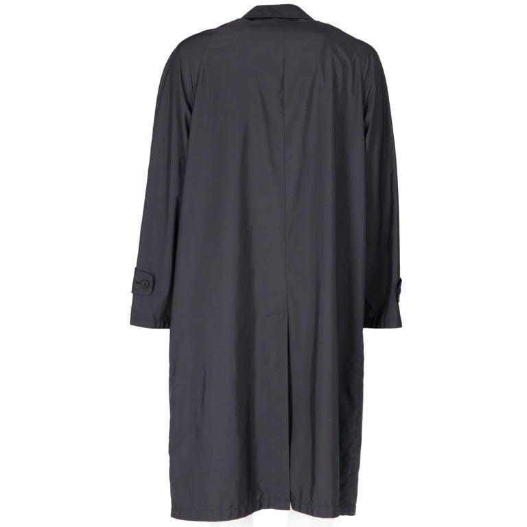 Black 2000s Aquascutum Blue Raincoat For Sale