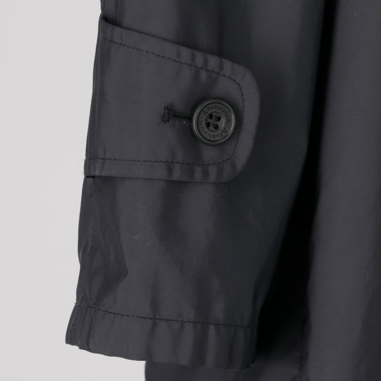 2000s Aquascutum Blue Raincoat In Excellent Condition For Sale In Lugo (RA), IT