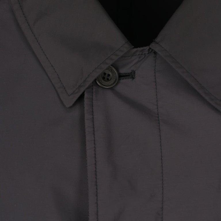 Men's 2000s Aquascutum Blue Raincoat For Sale