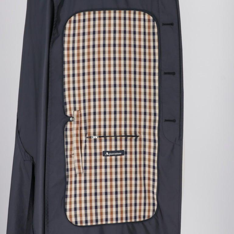 2000s Aquascutum Blue Raincoat For Sale 1