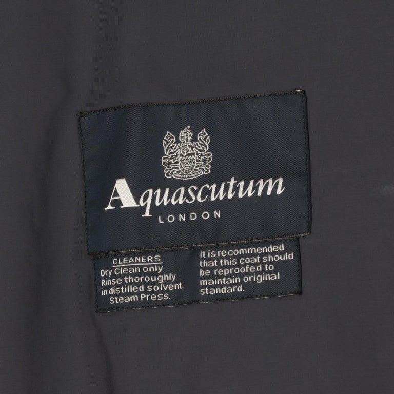 2000s Aquascutum Blue Raincoat For Sale 2