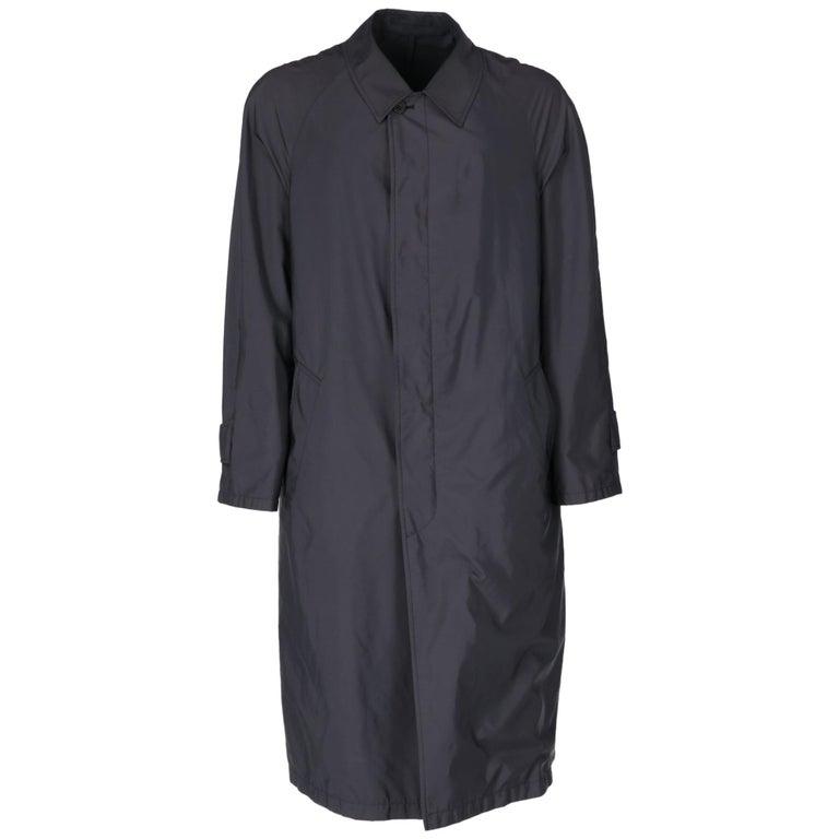 2000s Aquascutum Blue Raincoat For Sale