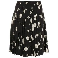 2000s Balenciaga Abstract Print Black Skirt