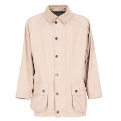 2000s Barbour Beaufort beige cotton blend jacket