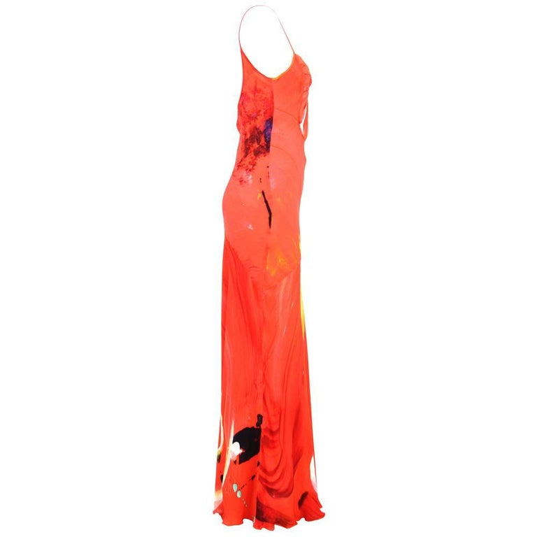 Red 2000s Basso & Brooke Silk Dress For Sale