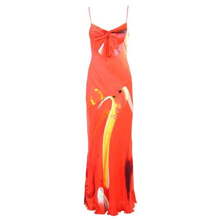 2000s Basso & Brooke Silk Dress For Sale