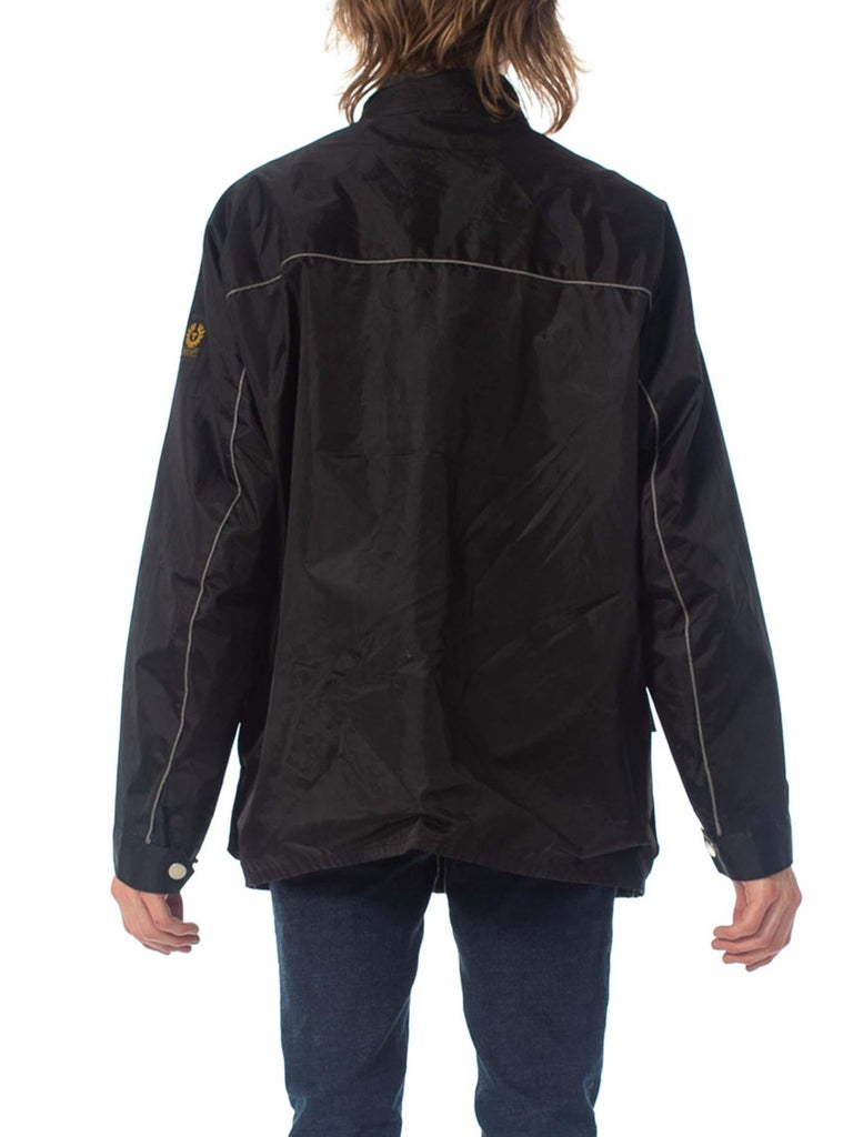 2000S Belstaff Black Polyester Motorcycle Jacket With Removable Lining For Sale 7