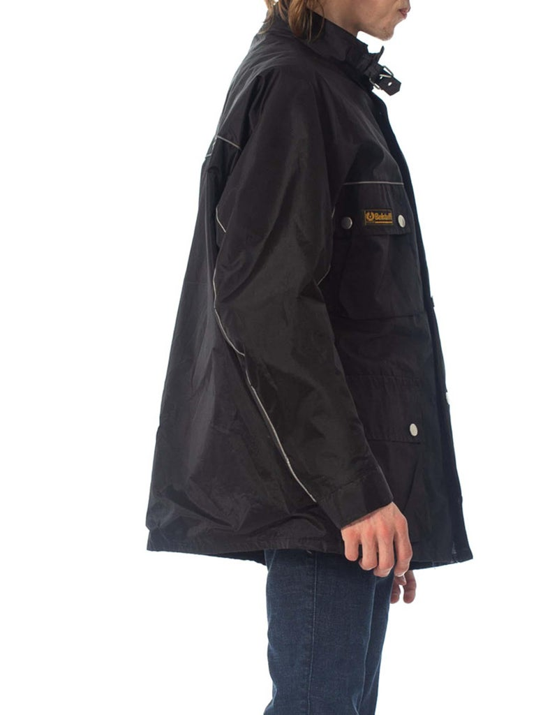 Women's 2000S Belstaff Black Polyester Motorcycle Jacket With Removable Lining For Sale