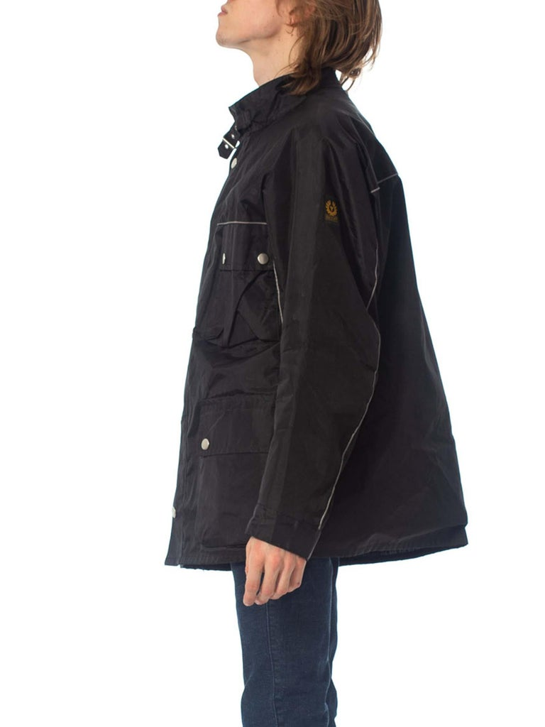 2000S Belstaff Black Polyester Motorcycle Jacket With Removable Lining For Sale 1