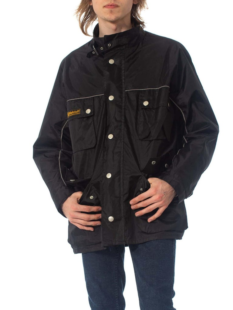 2000S Belstaff Black Polyester Motorcycle Jacket With Removable Lining For Sale 2
