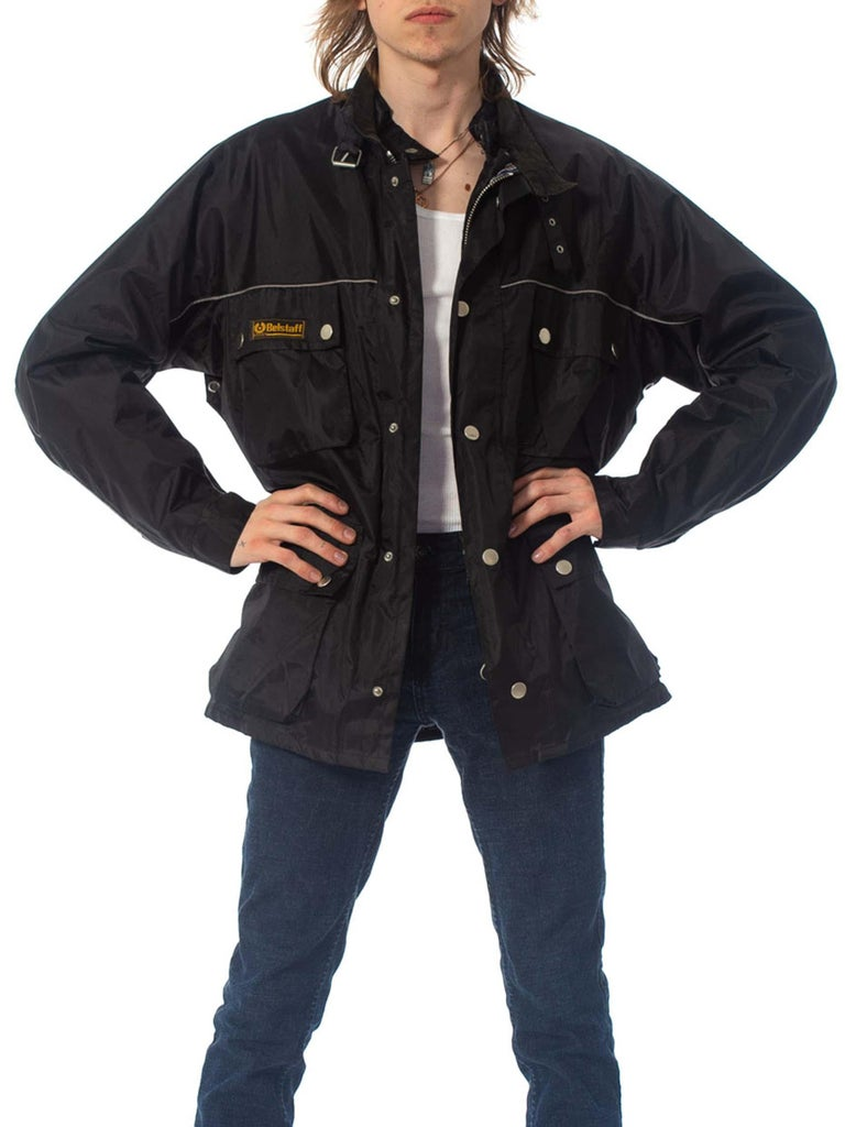 2000S Belstaff Black Polyester Motorcycle Jacket With Removable Lining For Sale 3