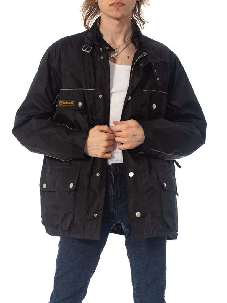 2000S Belstaff Black Polyester Motorcycle Jacket With Removable Lining For Sale 4