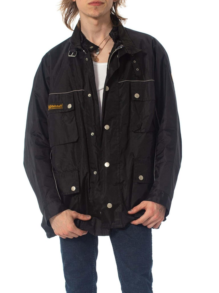 2000S Belstaff Black Polyester Motorcycle Jacket With Removable Lining For Sale 5