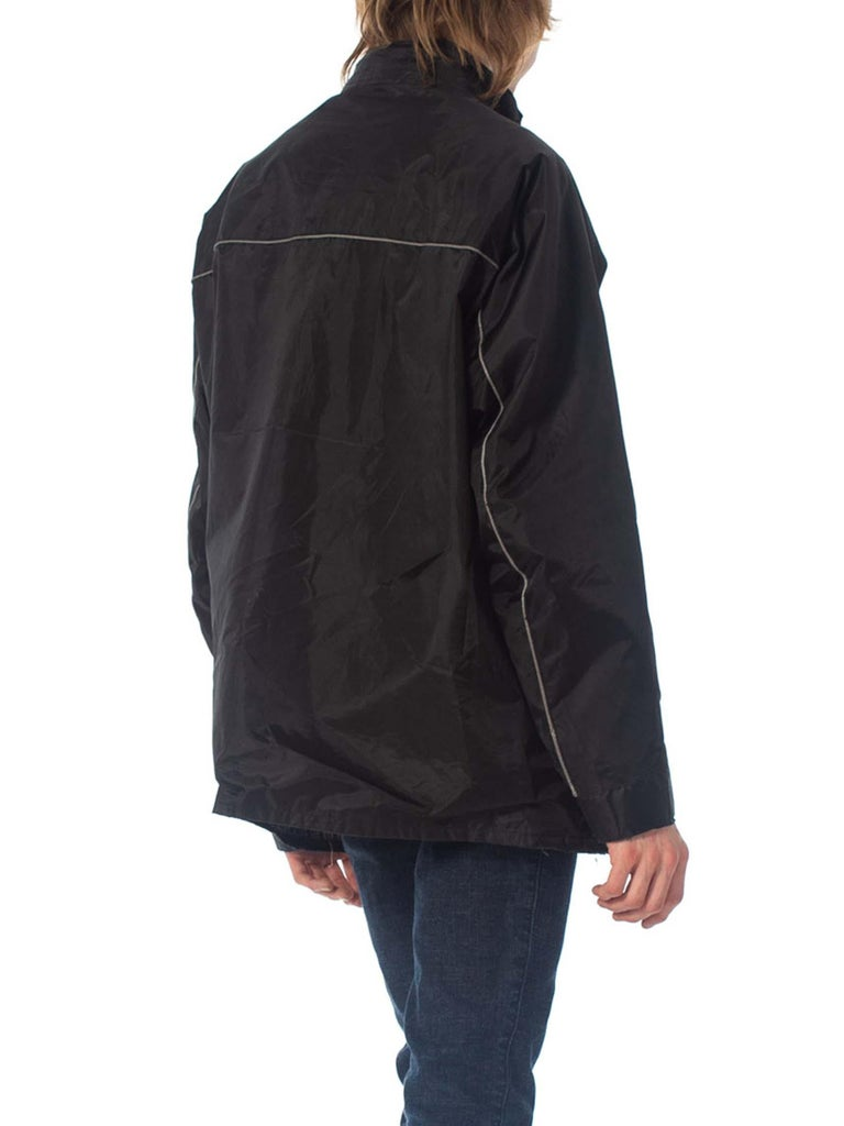 2000S Belstaff Black Polyester Motorcycle Jacket With Removable Lining For Sale 6