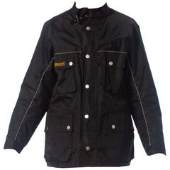 2000S Belstaff Black Polyester Motorcycle Jacket With Removable Lining