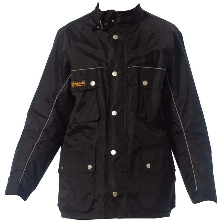 2000S Belstaff Black Polyester Motorcycle Jacket With Removable Lining For Sale