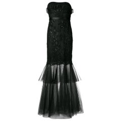 2000s Black Evening Dress