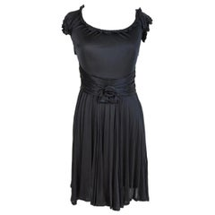 2000s Blumarine Black Evening Cocktail Dress