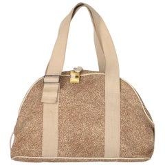 2000s Borbonese Beige Handbag