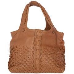 2000s Bottega Veneta Brown Leather Handbag