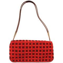 2000s Bottega Veneta Wool and Sequins Hand Bag