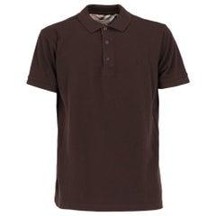 2000s Burberry Brown Polo T-shirt