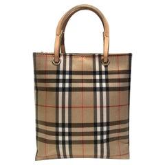 2000s Burberry Nova Check Mini Tote Bag