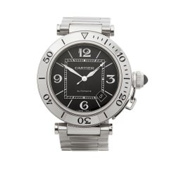2000s Cartier Pasha de Cartier Stainless Steel 2790 Wristwatch