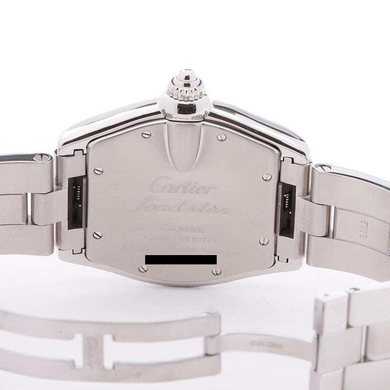 2000s Cartier Roadster Stainless Steel 2510 or W62002V3 Wristwatch For Sale 2