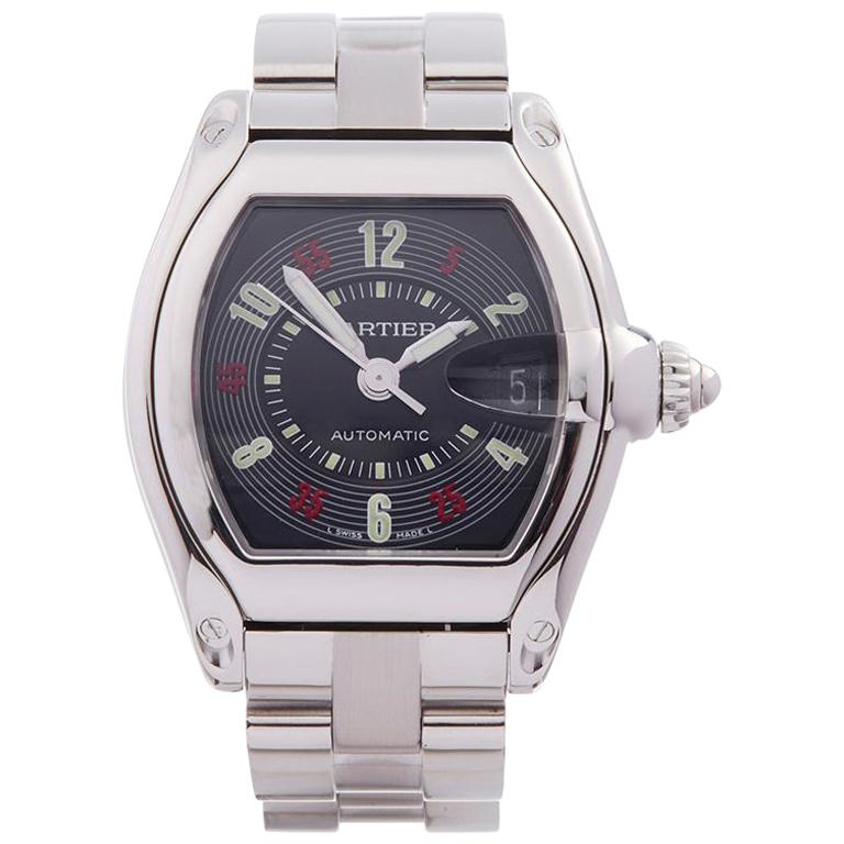 2000s Cartier Roadster Stainless Steel 2510 or W62002V3 Wristwatch For Sale