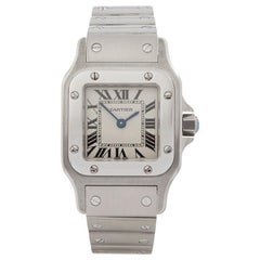2000s Cartier Santos Galbee Stainless Steel 1565 or W20056D6 Wristwatch