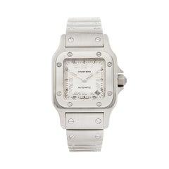 2000s Cartier Santos Galbee Stainless Steel 2423 Wristwatch