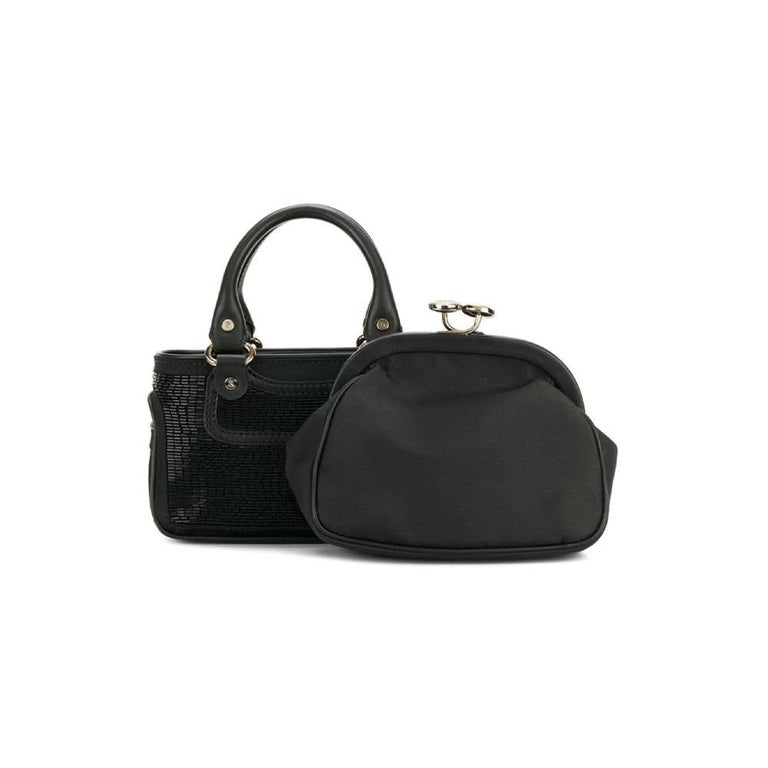 2000s Céline Black Handbag For Sale 1