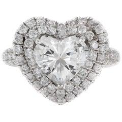 2.90 Carat Heart Shaped Diamond Ring
