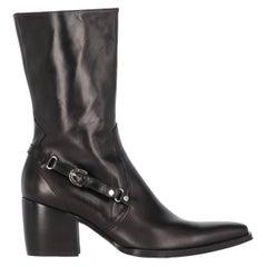 2000s Cesare Paciotti Black Leather Heeled Boots