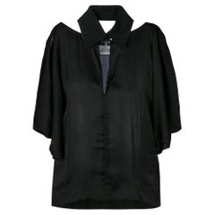2000s Chanel Black Cut-Out Shirt